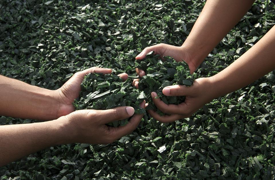 Green Hands Teamwork Working Together