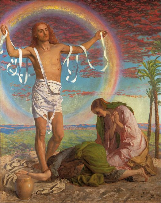 611px-William_Holman_Hunt_-_Christ_and_the_two_Marys_-_Google_Art_Project