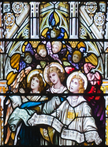 Bantry_Church_of_St._Brendan_The_Navigator_Second_North_Window_Psalm_66.2_Detail_Make_His_Praise_Glorious_2009_09_09