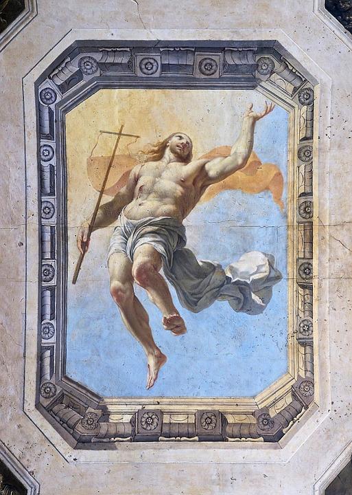 Christ Ceiling Painting Jesus Catholic Resurrection