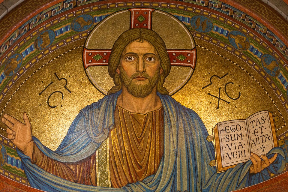 Easter Mosaic Jesus Gold Religion Christ