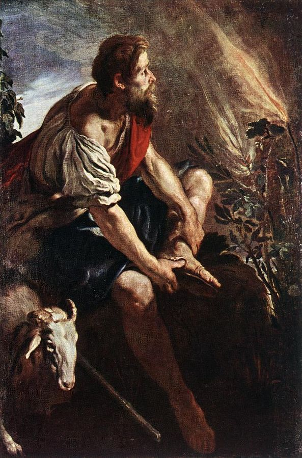593px-domenico_fetti_-_moses_before_the_burning_bush_-_wga07855